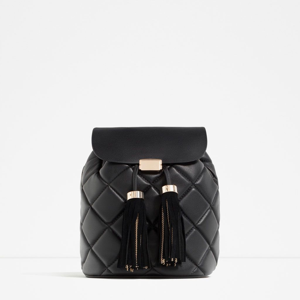 QUILTED TASSEL BACKPACK | хотелки | Pinterest | Tassels, Backpacks ... : quilted rucksack zara - Adamdwight.com