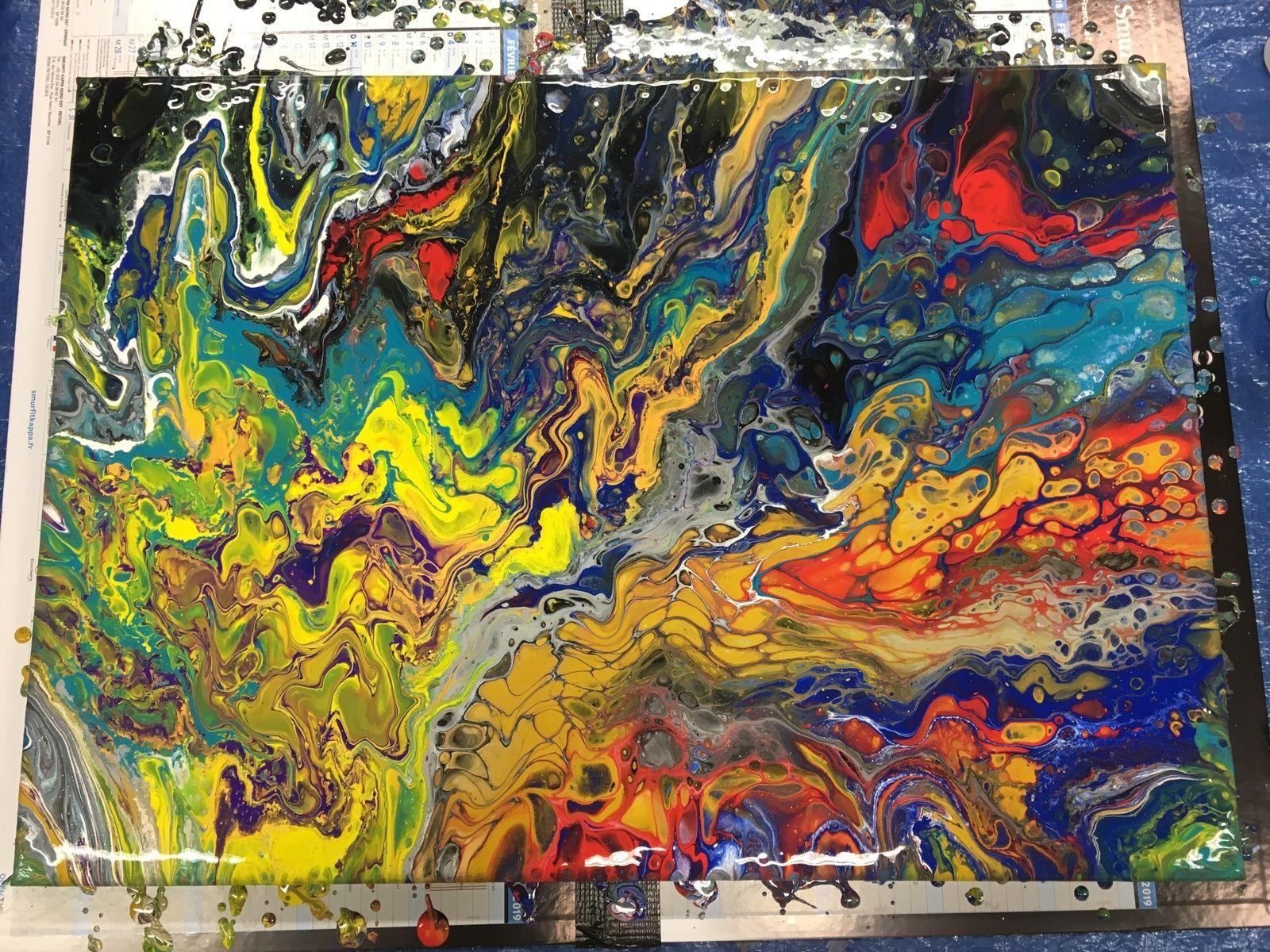 Acrylic pouring - Technique de la peinture fluide ...