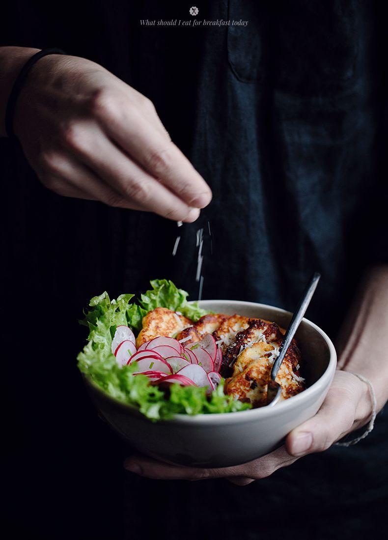 Fried ricotta with mushrooms and radish | Marta Greber