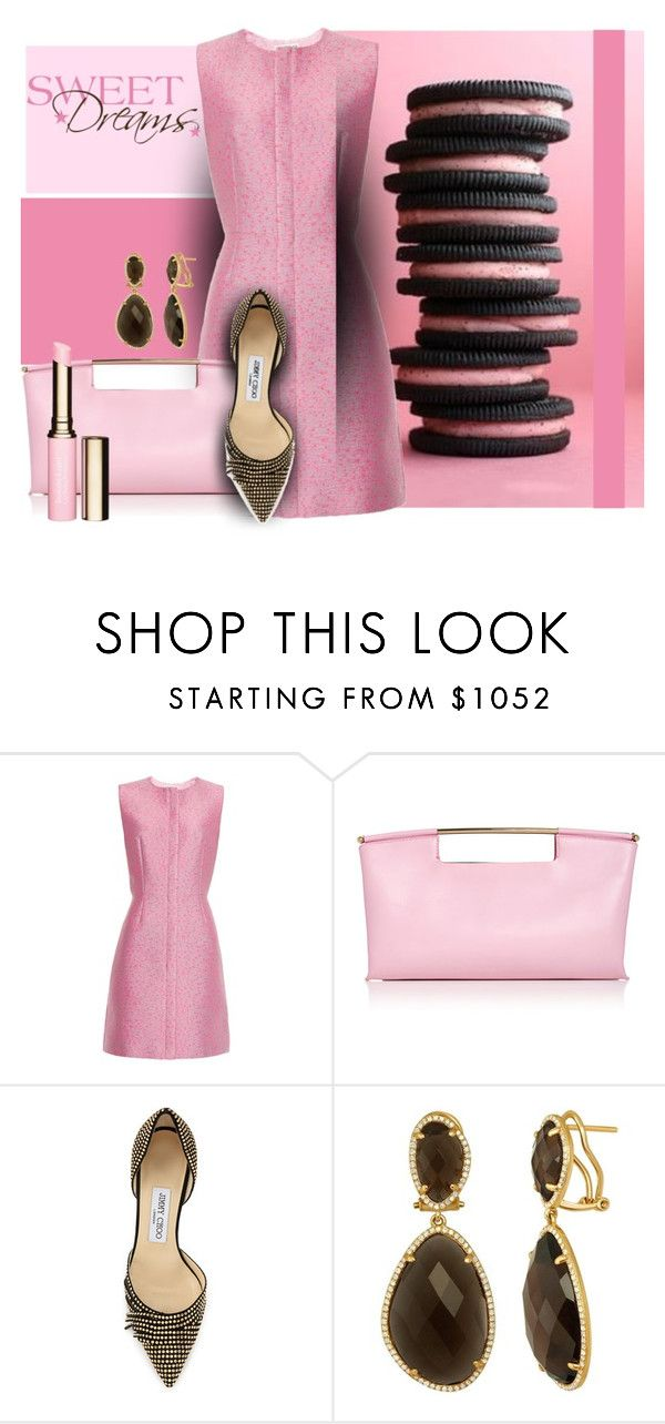 """sweet dreams"" by sandevapetq ❤ liked on Polyvore featuring Balenciaga, Delpozo, Jimmy Choo, Clarins, women's clothing, women's fashion, women, female, woman and misses"