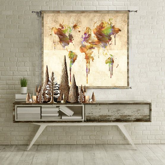 World map tapestry wall hanging wall art home by thestoryofthefall world map tapestry wall hanging wall art home by thestoryofthefall gumiabroncs Images