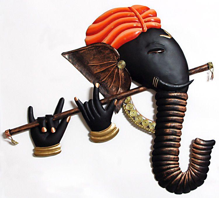 Murlidhar Ganesha Wall Hanging Ganesha Wrought Iron Wall Art