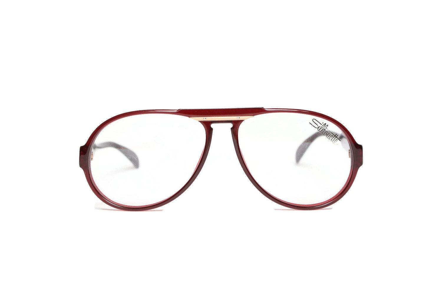 50 % SALE Silhouette* specs ruby red new Vintage glasses unisex ...