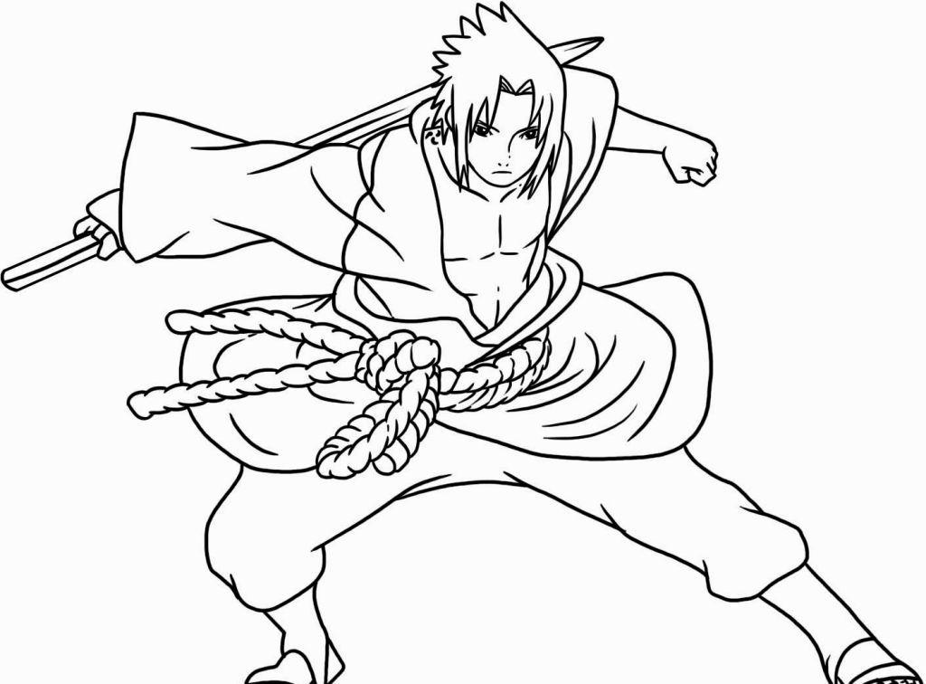 Naruto Shippuden Coloring Pages Sasuke drawing, Cartoon