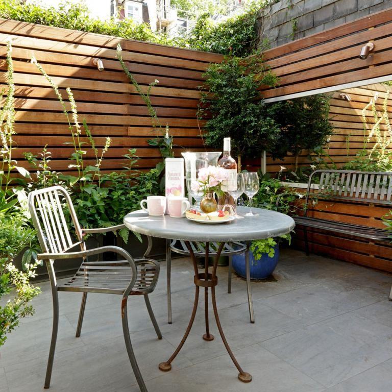 Simple Terrace Garden: 40 Tips Easy To Make Small Garden Design Ideas