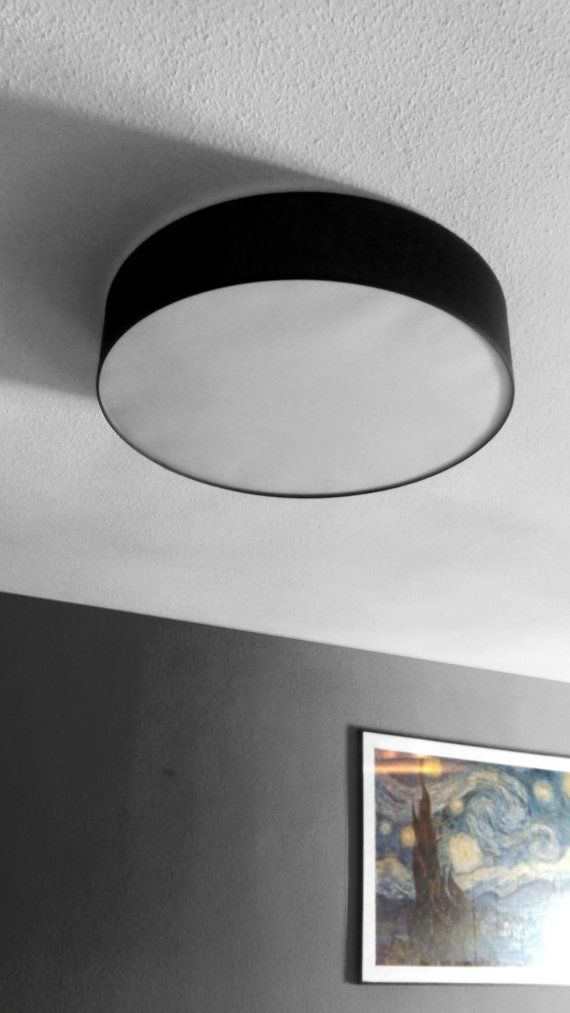 Xl Drum Plafond Ceiling Lamp Shade Black Plafond Lampshade Flushmount Style Ceiling Light Pvc Diffuser Ceiling Lamp Shades Pink Lamp Shade Old Lamp Shades