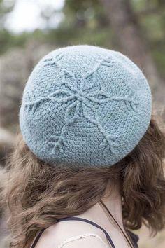 Crochet Ever After Snowflake Crochet Beret Hats Crochet Beret