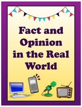 Fact & Opinion in the Real World: Activities from Beginner