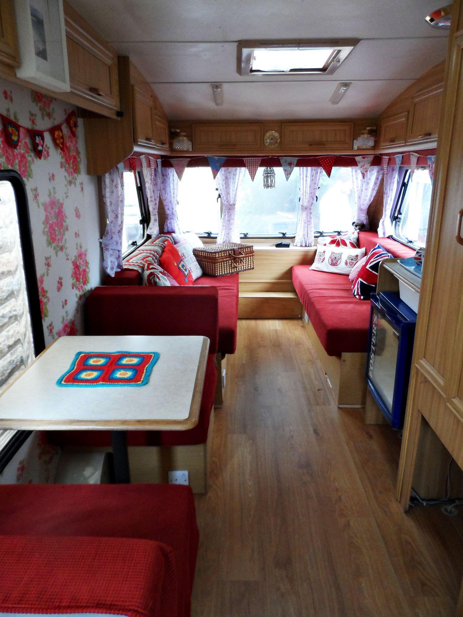 Caravan Makeover Travel Trailers Pinterest Caravan Makeover Caravan Ideas And Camping
