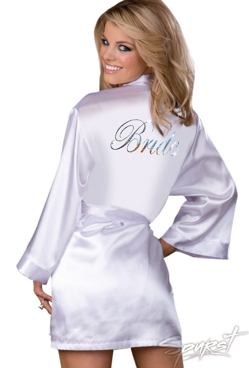 Yours Truly Bride Robe   Spurst.com