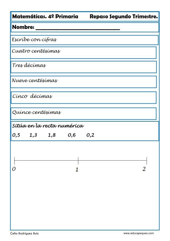 Recursos educativos: Ejercicios Matemáticas Primaria Hoy nos toca ...