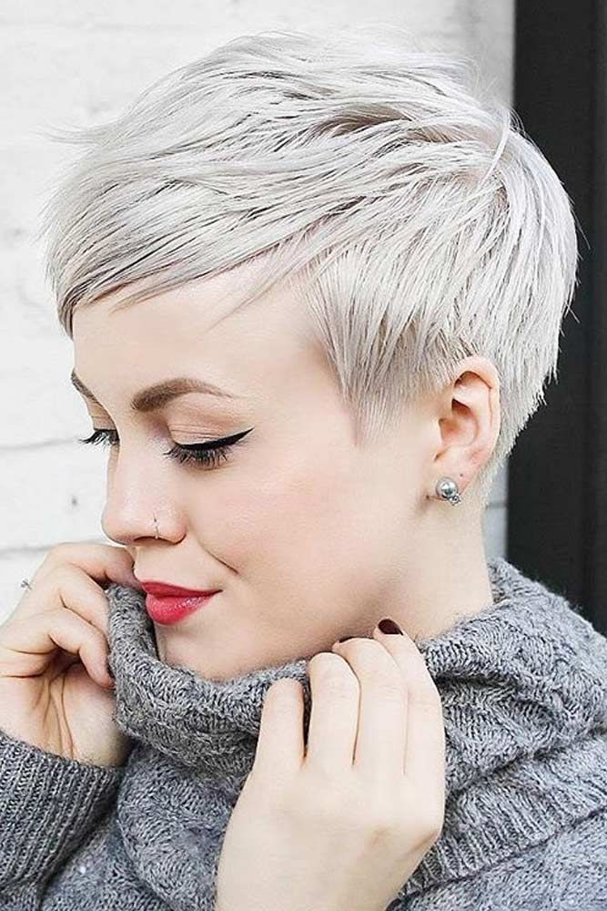 57 Blonde Short Hairstyles For Round Faces