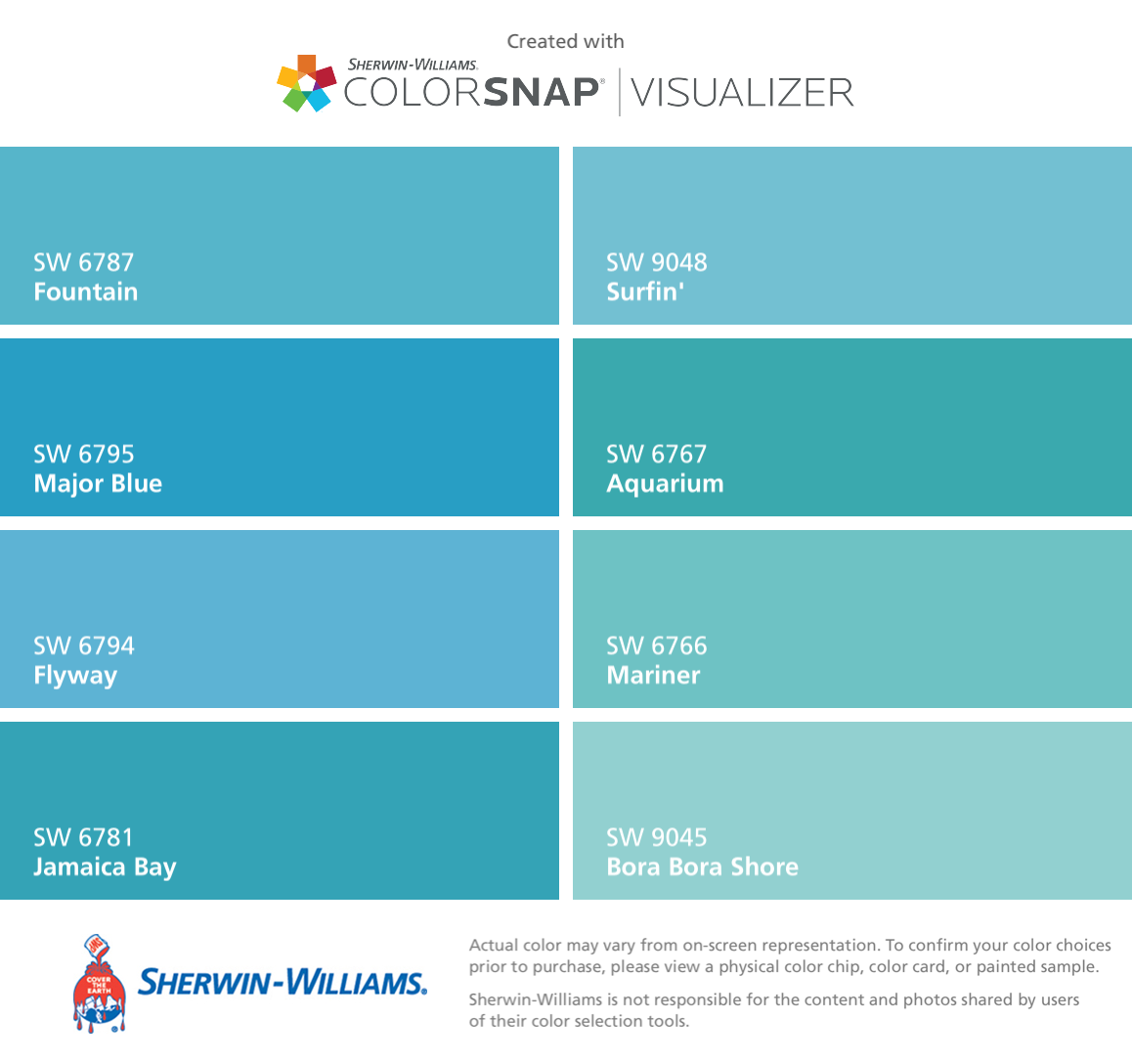 I Have Used Almost All Of These Colors Recently And Fell In Love With Fountain And Fl Paint Colors For Home Sherwin Williams Paint Colors Matching Paint Colors,Bathroom Backsplashes