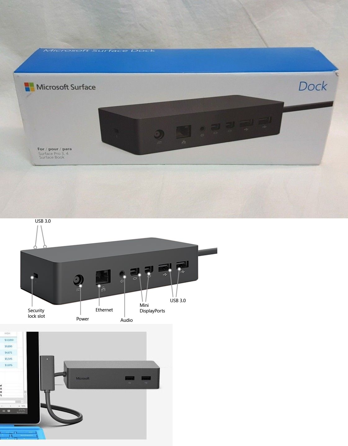 Docking Stations Keyboards 176975: Microsoft Surface Dock