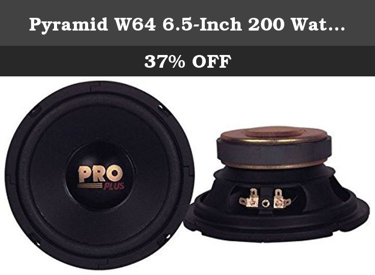 Pyramid W64 6 5 Inch 200 Watt Midbass Poly Woofer 6 Frequency Response The Unit