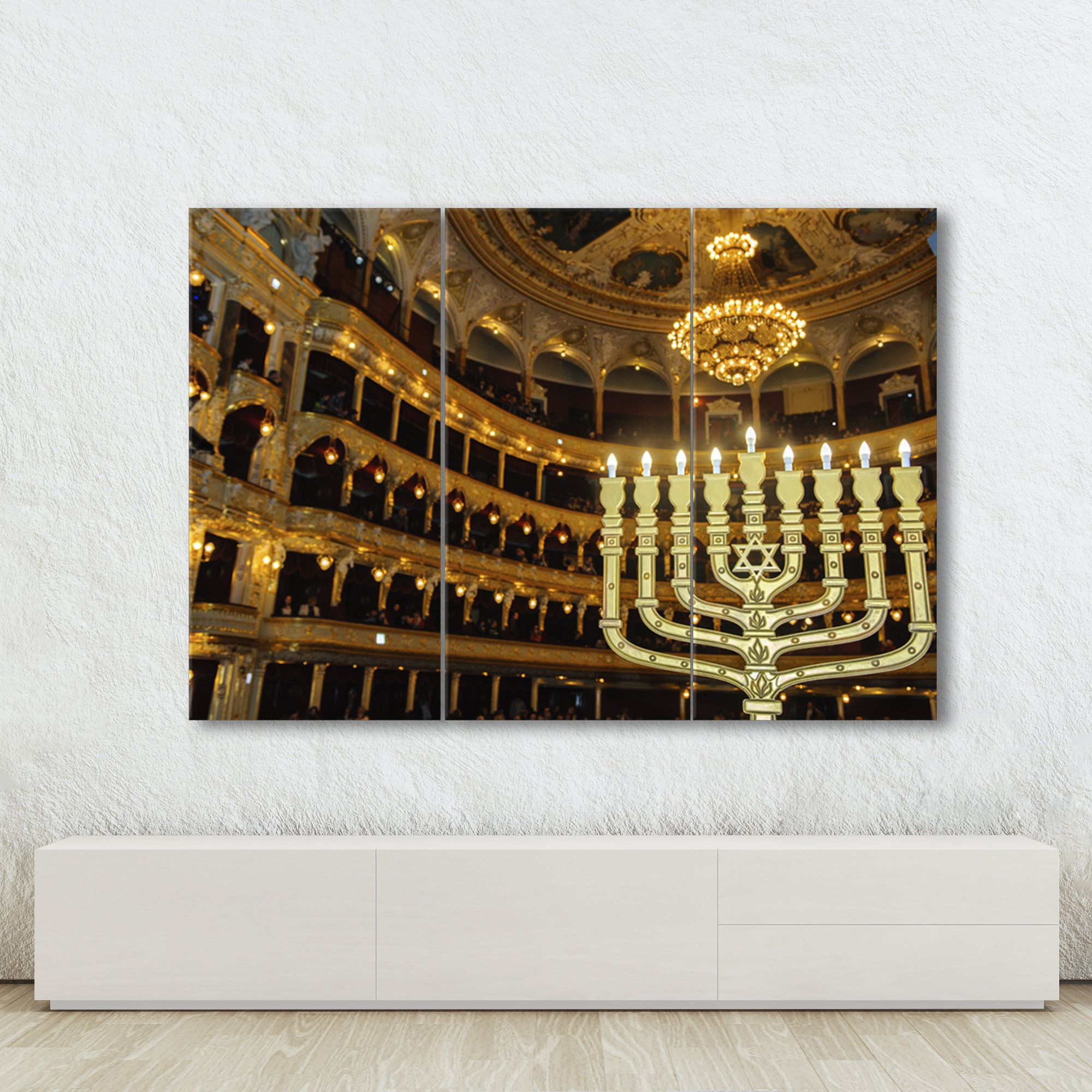 Hanukkah Candle Print On Canvas Jewish Tradition Wall Art Photo Scenery On Canvas Beautiful Picture For Th In 2020 Photo Wall Art Printed Candles Minimalist Prints