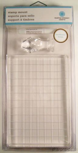 Martha Stewart Crafts Stamp Mount Lot Of 4 Includes One Inch X 6 Clear Acrylic Handle And Glue For Assembly