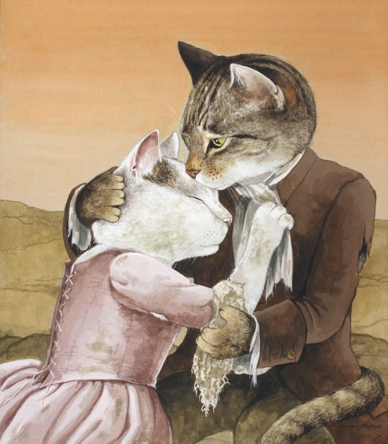 Картинки толстый и худой кот