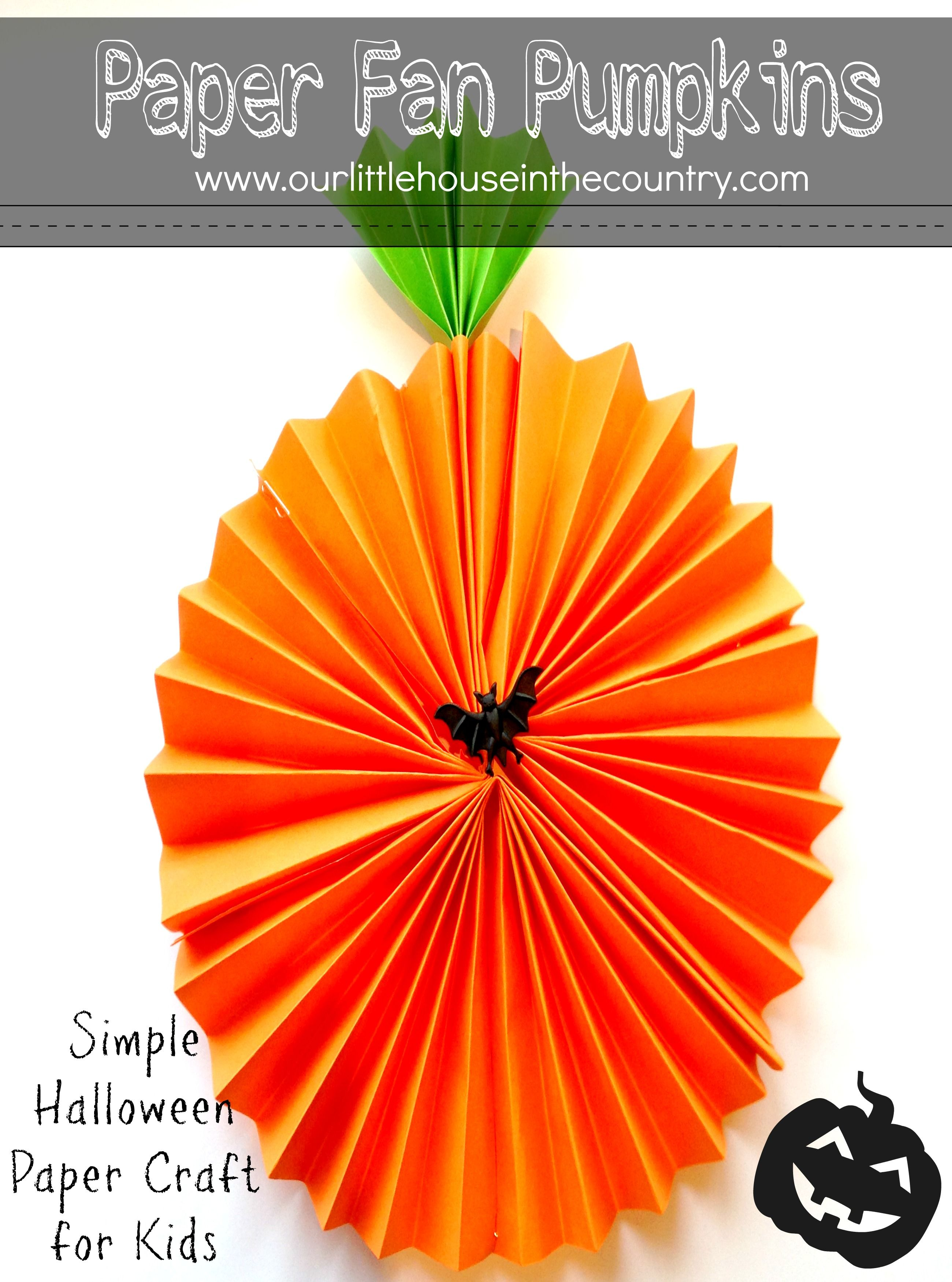 Paper Fan Pumpkin Decorations Decoration, Fans and Craft - Kid Friendly Halloween Decorations