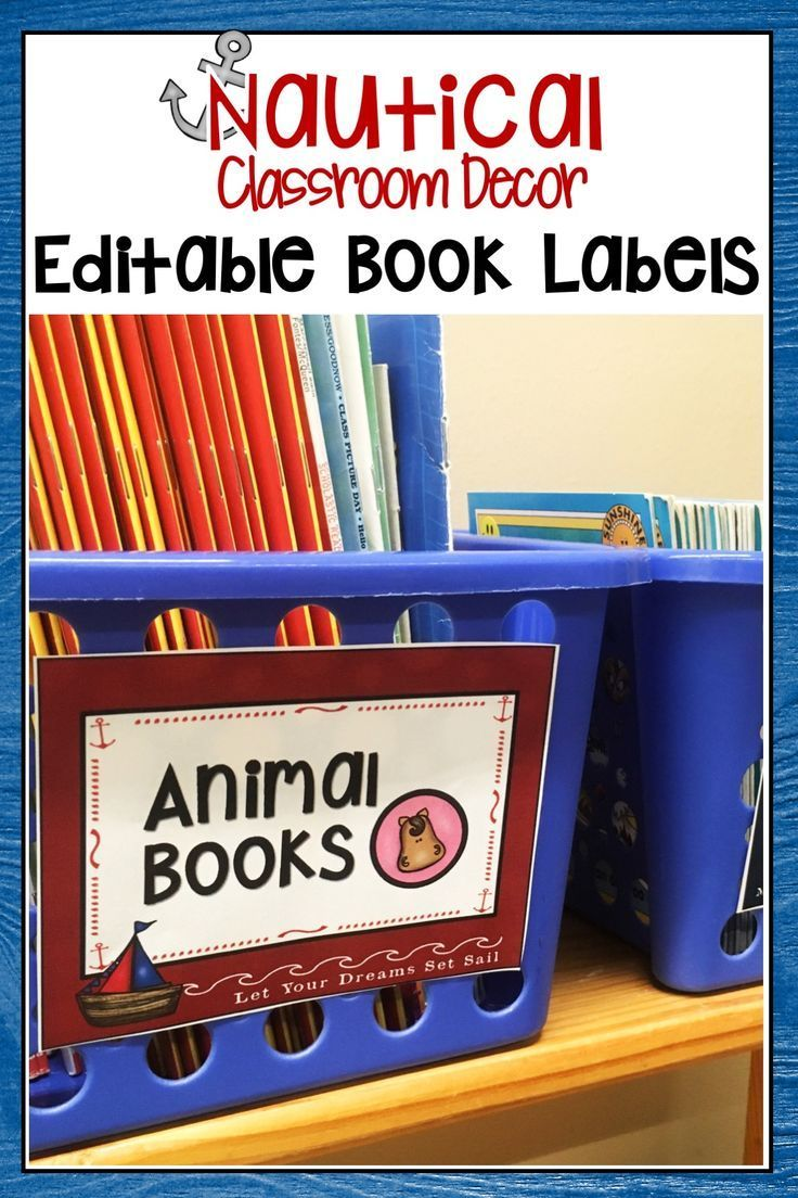 These Nautical classroom library labels are the perfect addition to any ocean…