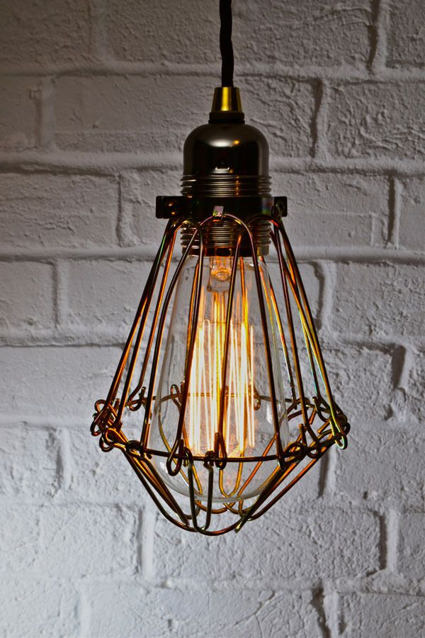 Edison Industrial Cage Pendant Light -012 by Artifact Lighting All styles & deisgns on display@ The loft Ladder The Marlands,Southampton with popcorn-box & Love hart boutique