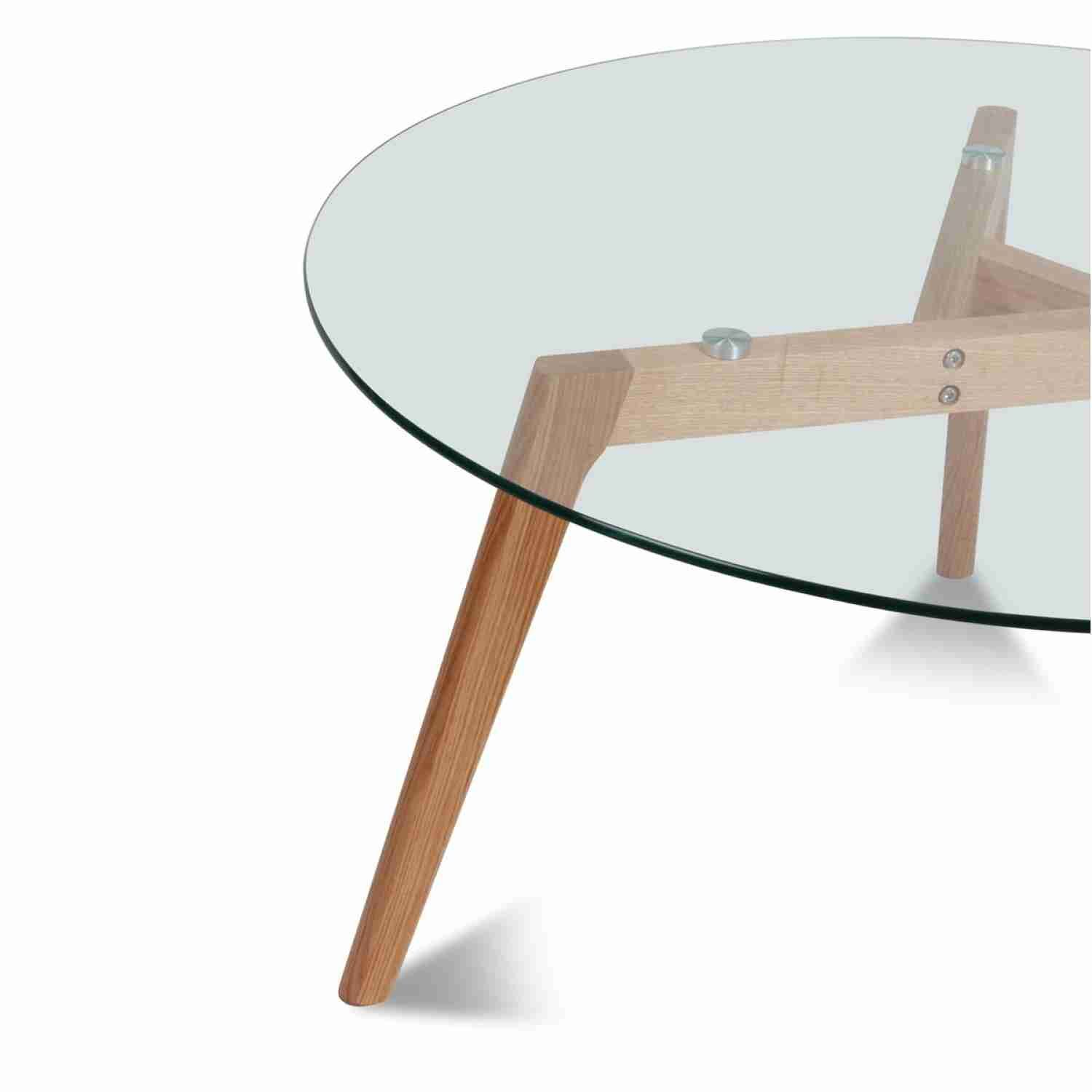 Table Ronde Plateau De Verre Style Design Table Dining Table