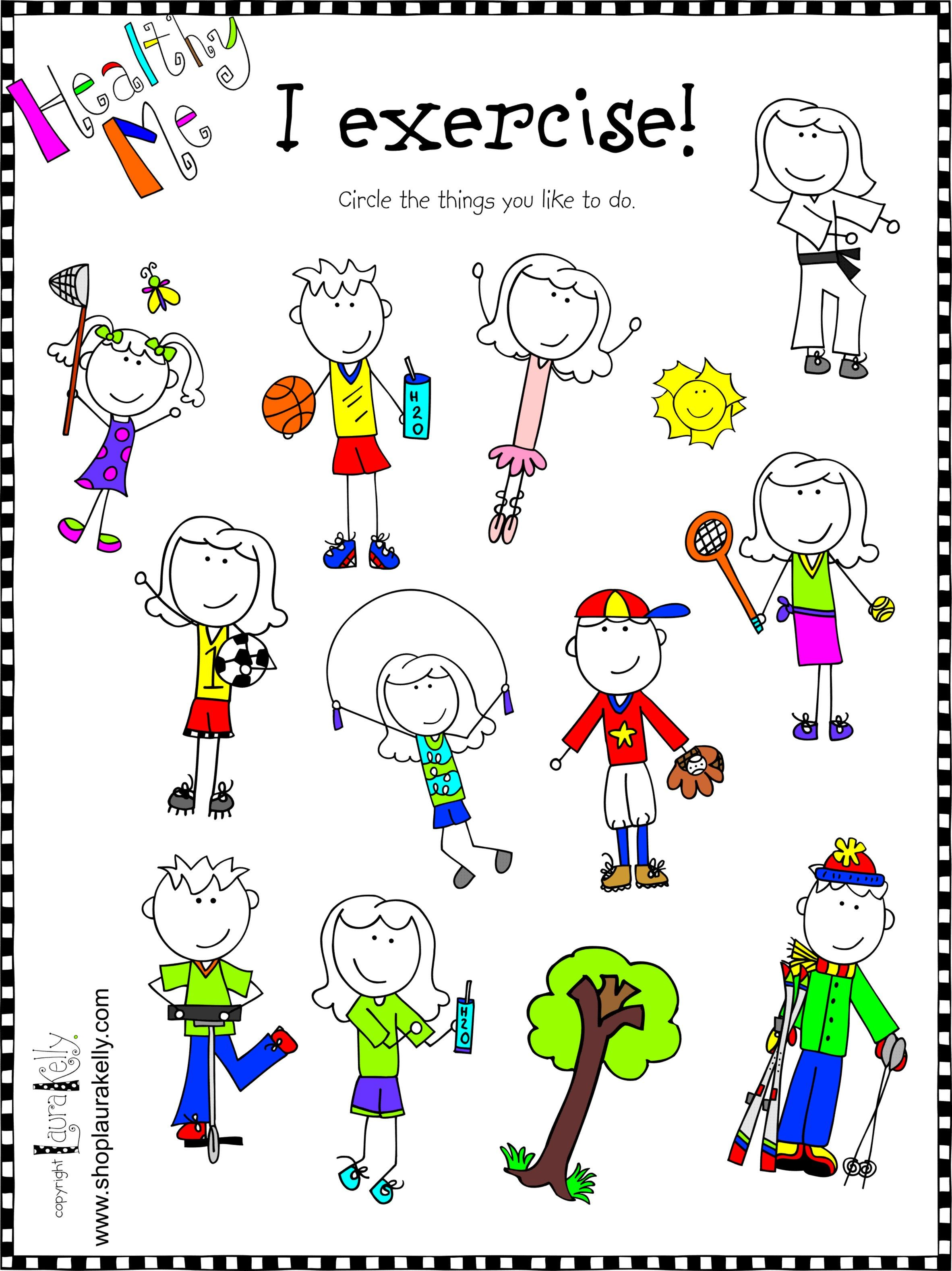 healthy exercise kids - Exercise Pictures For Kids