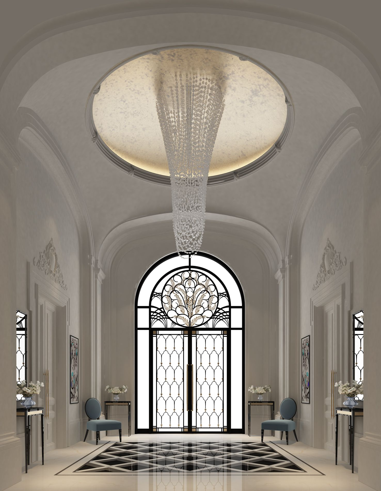 Luxury Home Entrance Luxury Interior Design For An Entrance Lobby By Ions