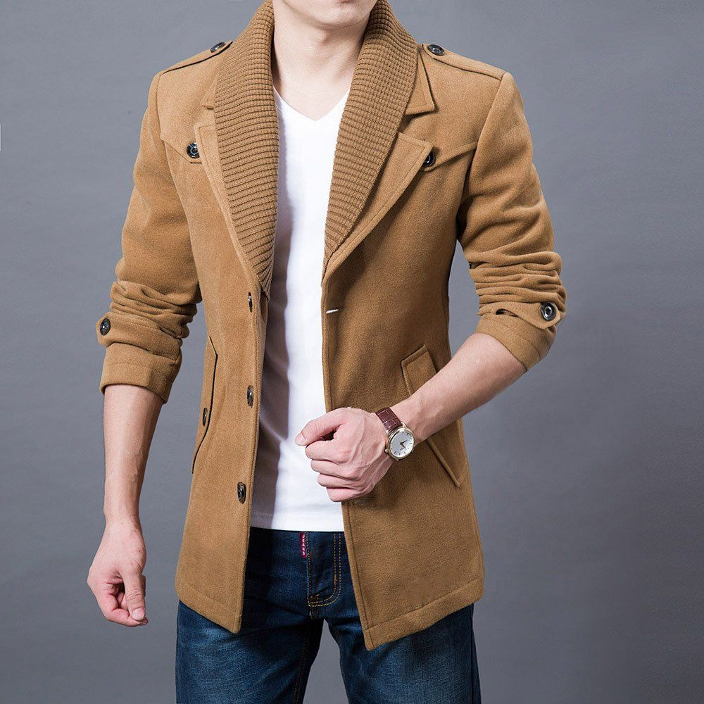 Shirt design for man 2017 - 2017 Business Men Casual Warm Coats Size M 3xl Good Quality Single Breasted Design Thicken