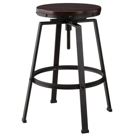 Weu0027ve got great deals on dakota adjustable height swivel stool - distressed/black - the industrial shop from The Industrial Shop.  sc 1 st  Pinterest & Farmhouse Bar Stools Under $100 | Stools Bar stool and Kitchens islam-shia.org