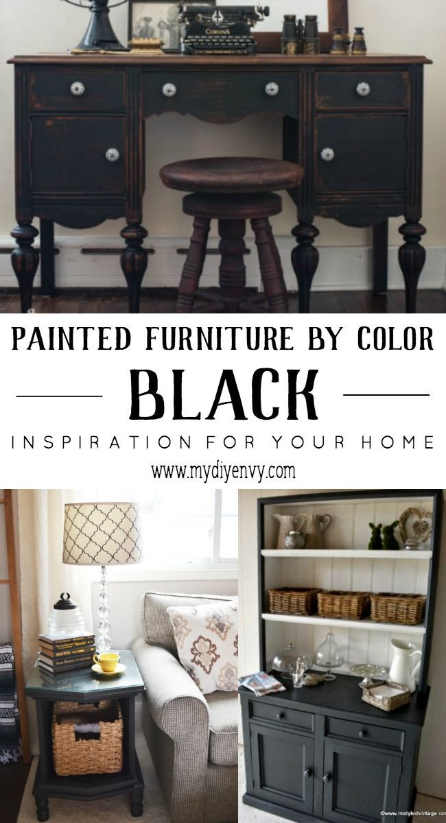Painted Furniture By Color   Black painted furniture to inspire your ...