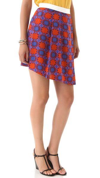 Tibi Nicola Asymmetrical Skirt - super girlie and cute - flare-hemmed skirt