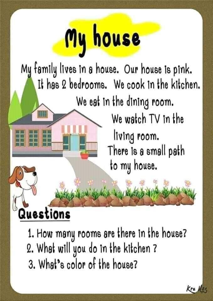 Pin By Neha Jha On 1st Cycle Reading Comprehension In 2020 English Lessons For Kids English Grammar For Kids Reading Comprehension Lessons