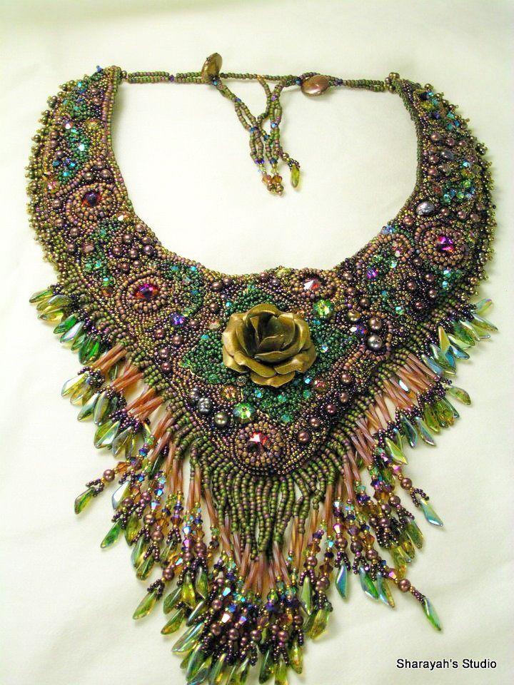 Beautiful embroidered jewelry by Sharayah Sheldon   Beads Magic