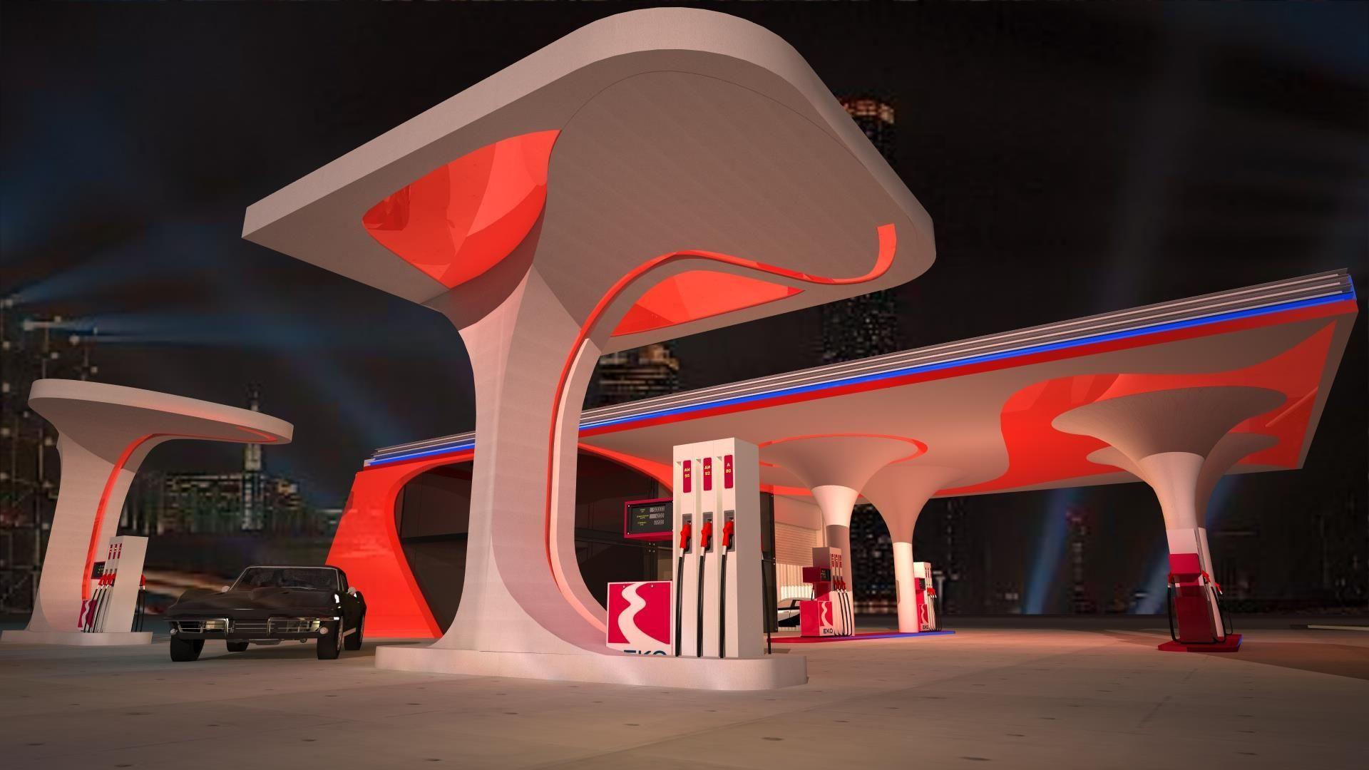 Pin by Arphatcha Jongpaiboon on 12 Gas station, Petrol