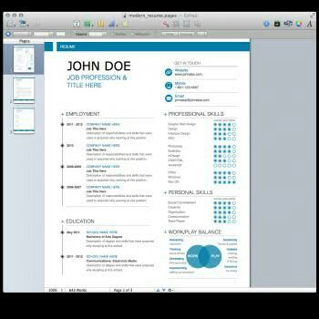 Resume software for mac