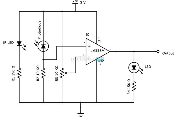 IR (Infrared) Obstacle Detection Sensor Circuit | Pinterest ...