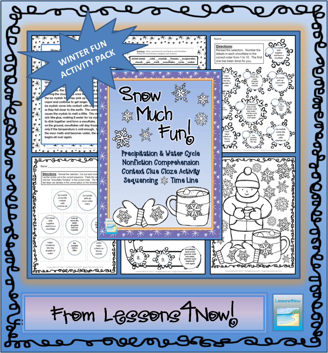 Snow Much Fun Winter Activity Packet