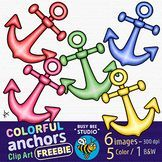 Colorful Anchors Clip Art #clipartfreebies Colorful Anchors Clip Art | FREEBIE #clipartfreebies