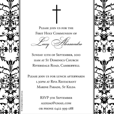 confirmation invitation to celebrate your special day