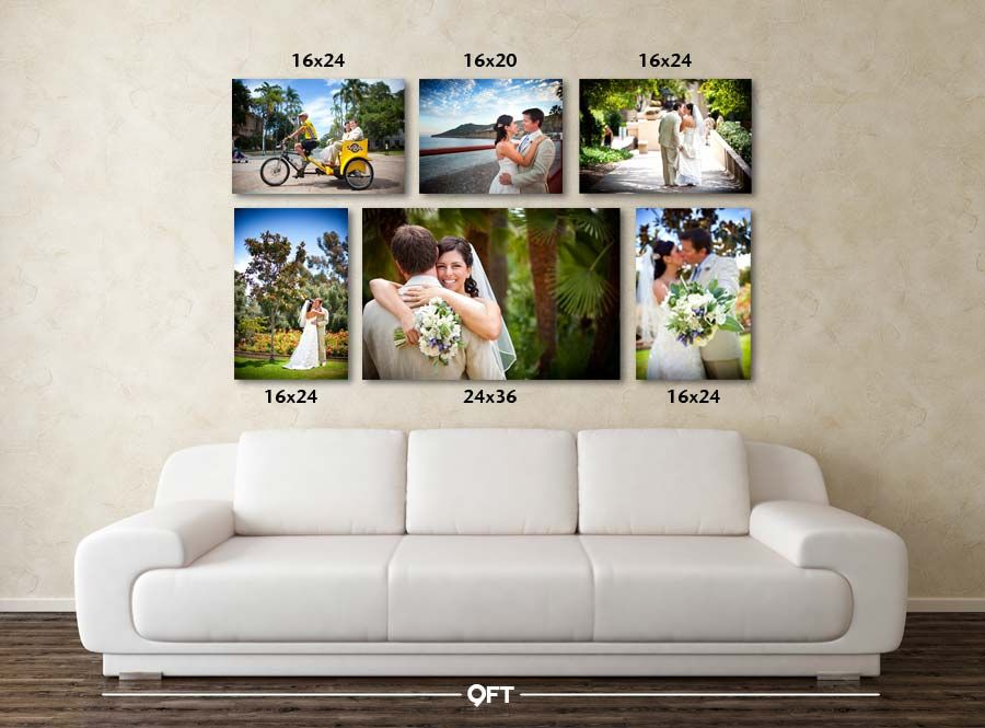 notice the sizes an 8x10 will not look as stunning over the couch canvas print wall5