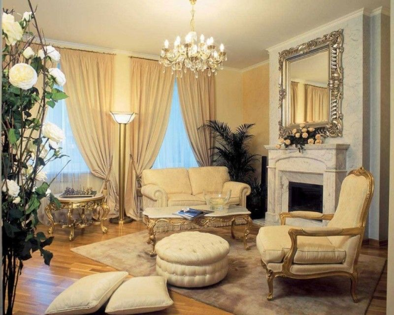 Living Room, Elegant Living Room Design Ideas With Classic Square ...