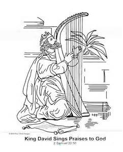 King David Sings Praises To God Coloring Page