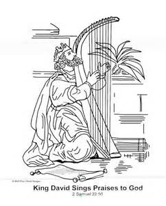 King David Sings Praises To God Coloring Page Sunday School