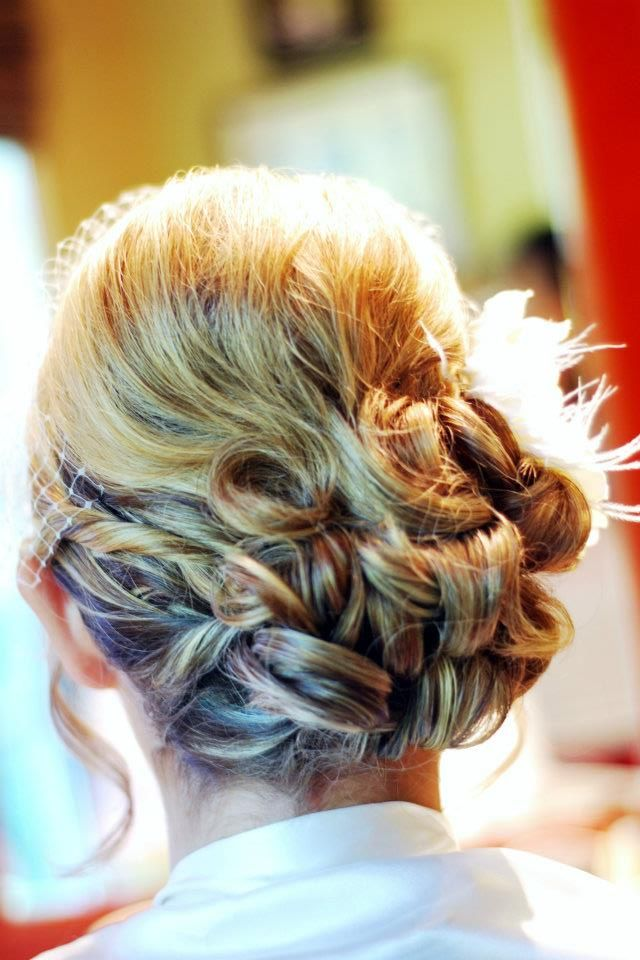 Another favorite.  Bride style that is very popular and timeless now.  By: Missy