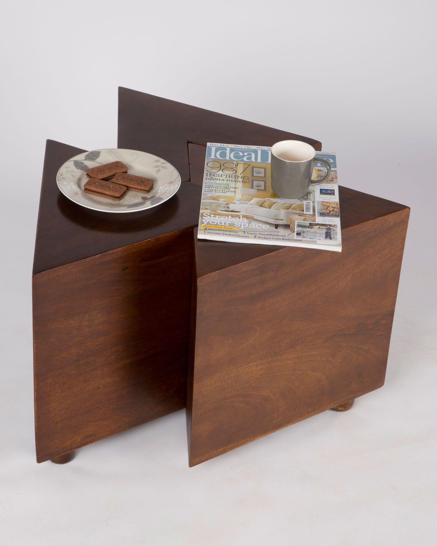 Three Interlocking V Shape Tables