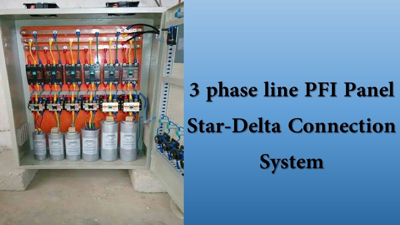 How To Connect 3phase Power Factor Capacitor 3 Phase Pfi Star Delta Co Delta Connection Capacitor Inductors