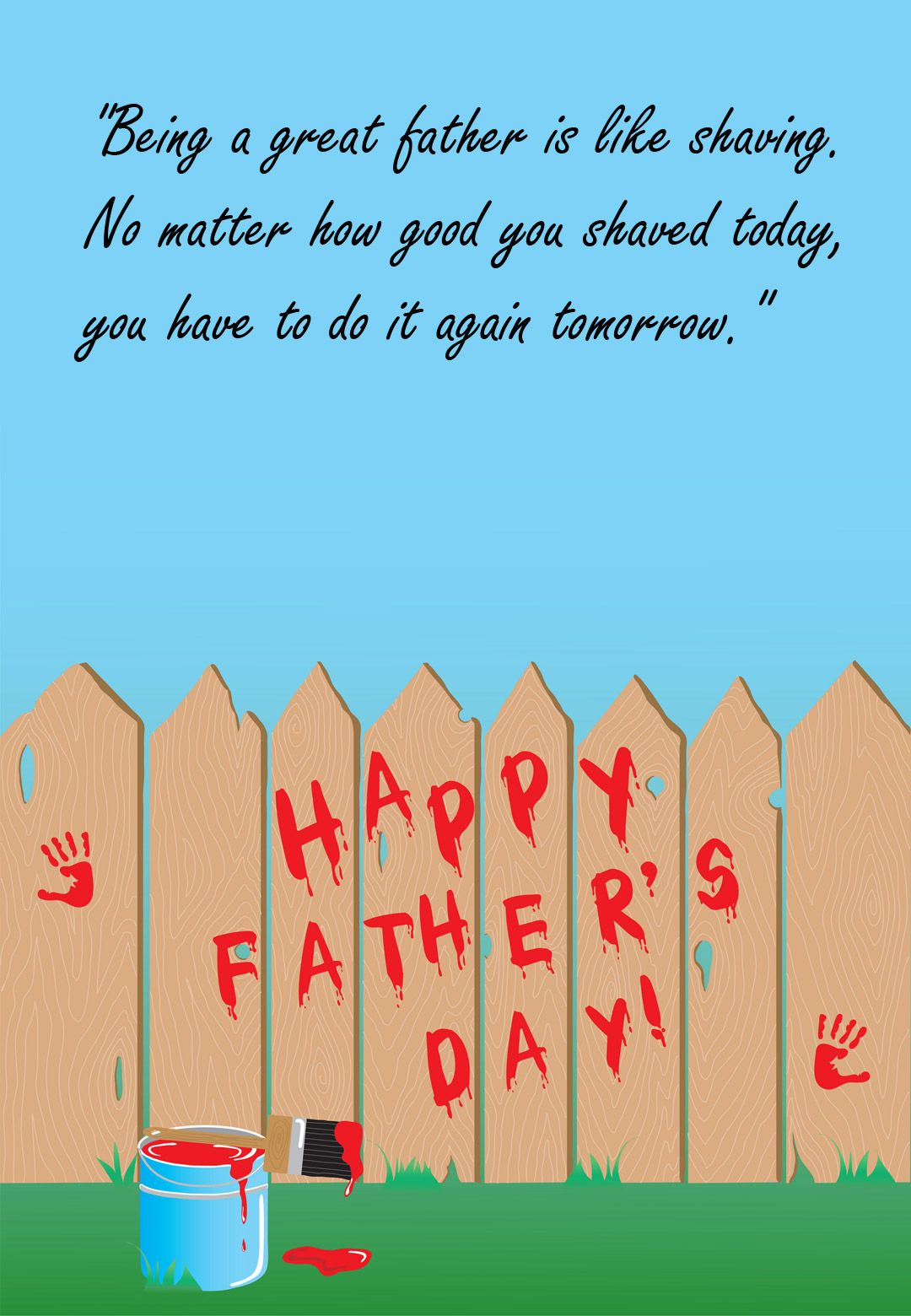 Free Printable Being A Great Father Greeting Card Free Printable