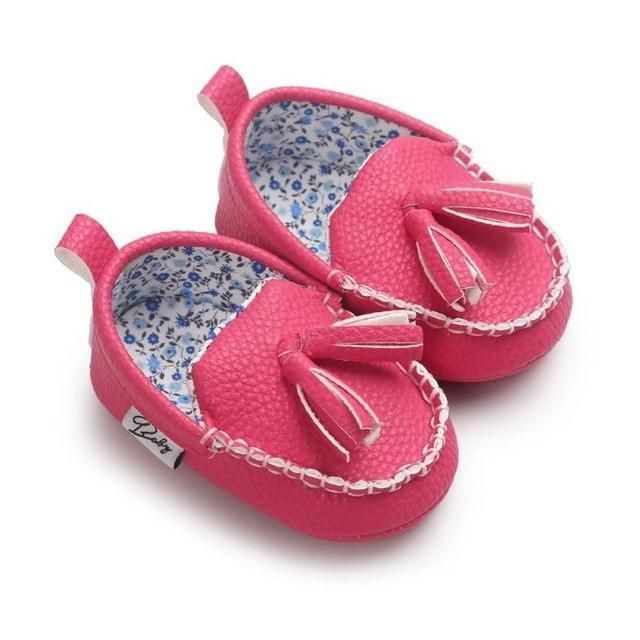 Tassel Leather Mocs | Kids shoe stores, Baby girl shoes