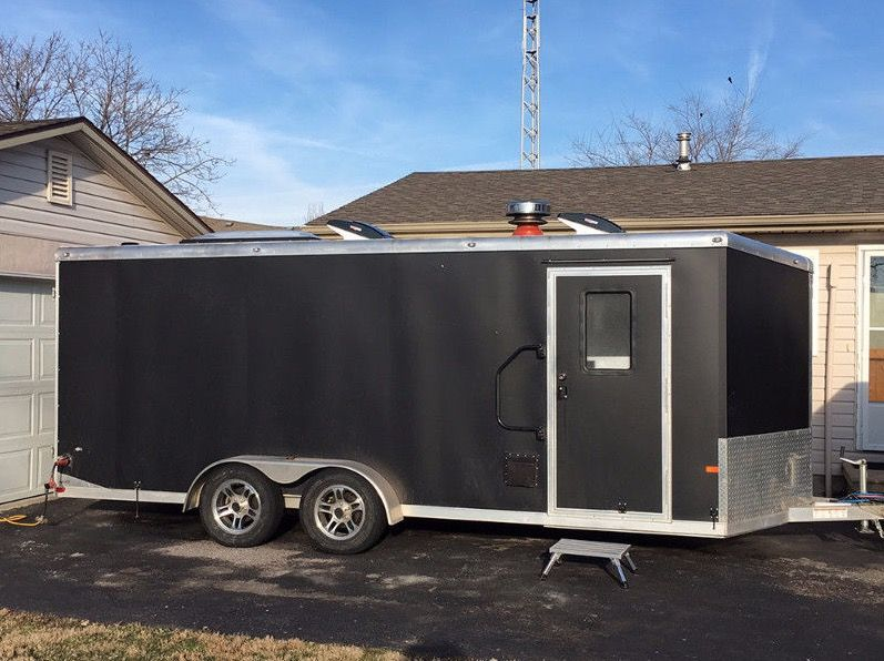 18ft Stealth Tiny House Built Out Of A Cargo Trailer Cargo Trailers Converted Cargo Trailer House On Wheels